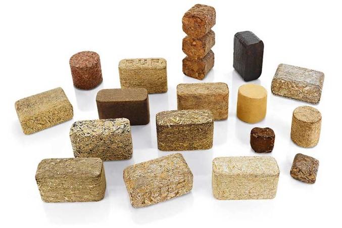 briquetas cáñamo, biomasa, pellets, polvo