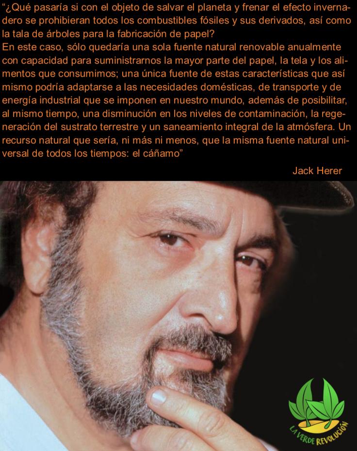 JACK HERER teoría cáñamo la verde revolución